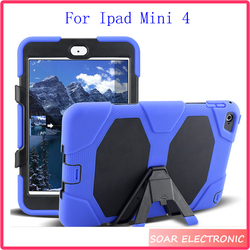 For Ipad mini 4 tablet case,7.9 inch Military Hard Rugged shockproof tablet Case For iPad mini 4