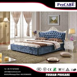 Foshan fashion king size bedroom furniture prices