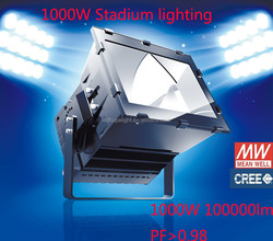 Creechip Meanwell driver 1000W high power square football stadium led flood light
