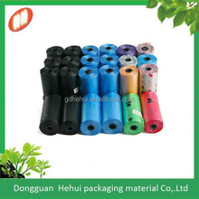custom printing coloured dog waste bags/pouch for wholesales with dispenser