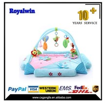 Soft plush baby play mat with sides,baby gym play mat,baby play mat
