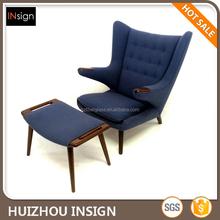 Hans Wegner Papa Bear lounge Chair and Ottoman Teddy bear chair