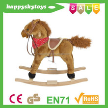 Safety popular toys!!! happy trails plush rocking horse,playful baby rockabye rocker