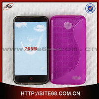 Hot New Luminous Color TPU S cube design cell phone back case cover for alcatel 765m