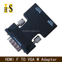 hdmi to vga high quality hdmi female to vga male adapter with 3.5mm audio cable for projector hdmi f to vga m adapter