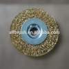 brass round wire brushes for cleaning