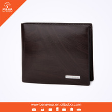 Remove Small Card Slots Button Style Black Genuine Leather Men Travel Wallet