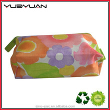 2015 Best selling flat canvas pvc polyester pouch custom made cosmetics packing bright- coloured small zipper nylon bags