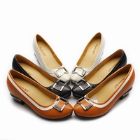 stylish low heel shoes / white sparkling wedding shoes / women colorful dress shoes W65B01
