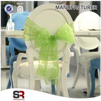 hot sell fancy wedding Organza Chair Sashes