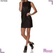 Elegante venta corta vestidos de algodón de verano vestidos de día simple