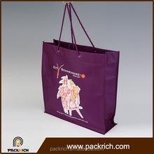 China online shopping purple big capacity custom non woven printed tote bag
