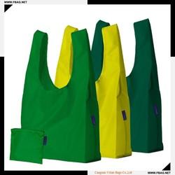 100% QC custom make 190T silkprinting waterproof folded nylon bag