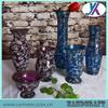 Ikebana decoration murano mosaic glass antique vase