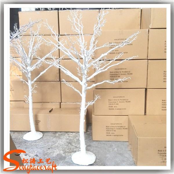 Rbol artificial sin sin hojas ramas blancas para centros for Arbol artificial decoracion