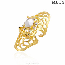 MECY LIFE Europe and America exaggerated fashion diamond inlaid popular hot selling gold finger gem rings