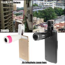 Cell phone lens 8x Universial telephoto lens for cell phone, mobile camera extra lens, phone camera lens