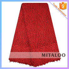 Mitaloo 2015 Wholesale Wedding or Party Lace Fabric With Leaf Trim Guipure Cupion Lace , MCP0115