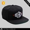 Green under brim black custom cheap snapback cap
