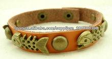 Leather bijouteries Fashion Wristband