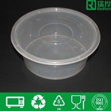 Round plastic food storage box sushi box large plastic container 2500ml