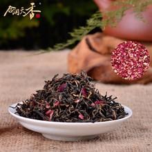 rose flower flavored black tea easy slim tea