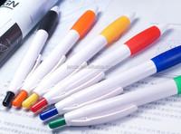 white ball pen for promotion imprint custom logo 500pcs free shipping