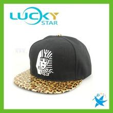 Adjustable leopard print snapback caps man hat hip hop custom snapback cap flat cap wholesale