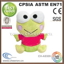 Cheap small plush toys, green frog plush toy, frog plush toy with big eyes