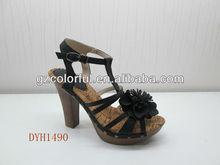 fábrica 2013 baratos de nueva alta sandalia del talón del zapato