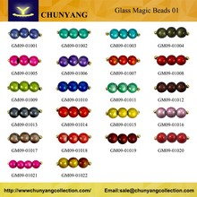 New design fashion low price colorful glass magic beads 01
