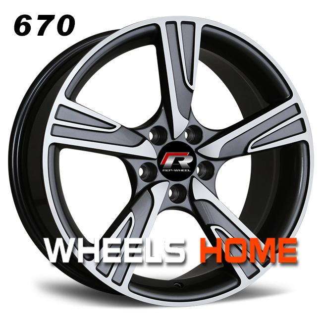 Llantas de aleación de Audi VW, ruedas de Casa caliente a la venta, ruedas de 18 pulgadas, modelo 670