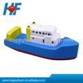 Navio de guerra em forma de bola pu stress apaziguador, navio de guerra de brinquedo