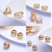 Filigree hollow ball spacer metal beads for jewelry making 15mm