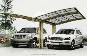 Düşük fiyat oteller için polikarbonat araba yan caravan sundurma tente