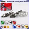 BJ-Screws-2003 Silver M5 Allen Key Fairing Kit Motorcycle Fairing Screw Nut