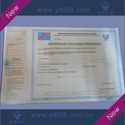 Anti-counterfeiting university graduation certificate printing