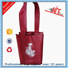 Cheap non woven bag with wine bottle holder
