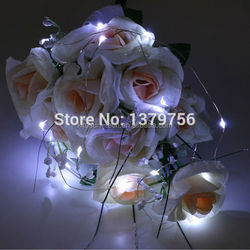 Battery Operated Color Changing LED Lights Waterproof LED Copper Wire Vase Light