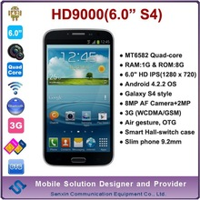 HD9000 6 inch mobile phone big screen china mobile phone 6 inch big touch screen mobile phone