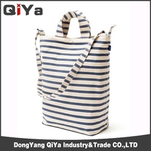 2013 new black white strip weekend womens tote bag for promotion