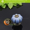 Hot sell pumpkin shape ceramic drawers pull knobs