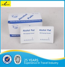 16801 Hot selling disposable 70% isopropyl alcohol prep pads
