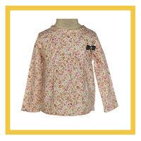 autumn flower print shirts, girl top