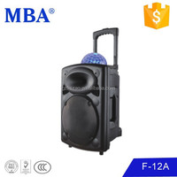 Single 12 inch big active charge external battery speaker with coulour ball light,bluetooth function