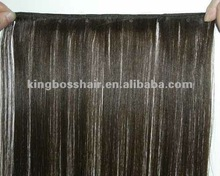 STW hand tied hair weft with beads