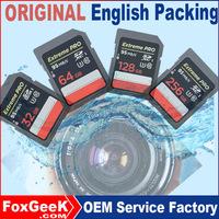 Original Extreme Pro 32GB Class 10 UHS-3 95MB/s Speed Sd SDXC Memory Card 64G 128GB 256GB micro Bulky SD Cards CCTV IP Camera
