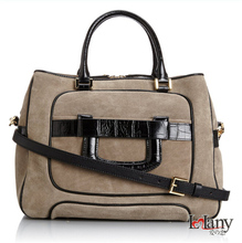 Italian style latest suede handbags for women to match women bags coral color