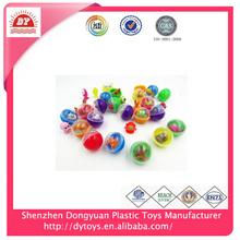 Promocional 2014 china sorpresa del huevo de plástico de juguete del caramelo, caramelo del juguete de la fábrica