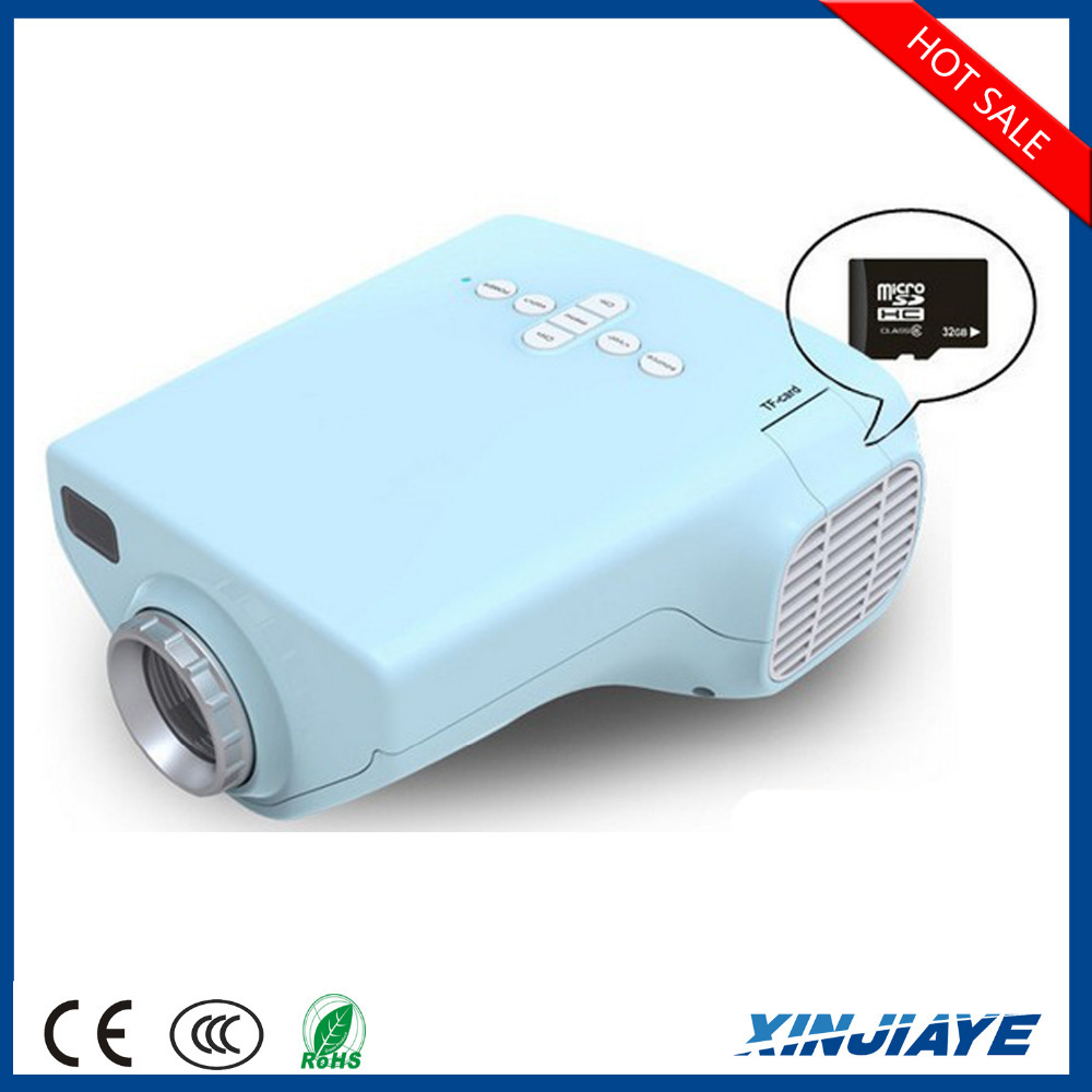 Hdmi portable mini 1080p led home theater projector av vga for Laptop pico projector